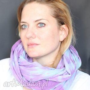 handmade szaliki utaplany po pachy za pomoca kiełbachy l1