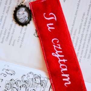 Zakładka do książki - Biedronka, zakładka, medalion, biedronka, książka, czytanie