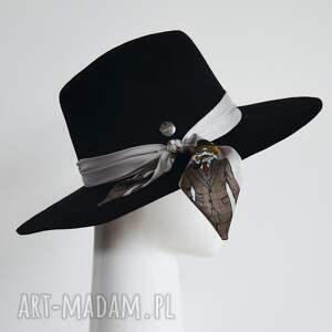 ręcznie wykonane czapki czarna fedora