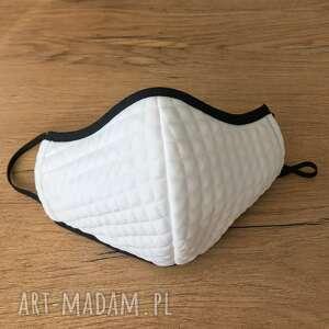 maseczki maseczka biała ozdobna ochronna z kieszonką, maska elegancka