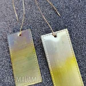 Kolczyki z mosiądzu - k21 esterka kolczyki, metalowe