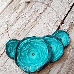 handmade naszyjniki kwiatowa kolia nasyjnik z kwiatów morski