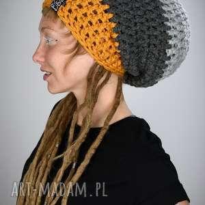 czapka dreadlove triquence 15 - musztardowa, czapka, reggae, rasta, dready