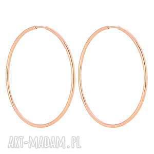 sotho kolczyki koła z różowego złota - okrągłe
