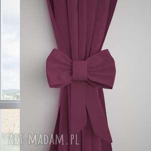 dekoracje zasłona tweed jodełka burgund, zasłona, zasłony, tweed, upięcie