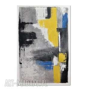uno, abstrakcja, nowoczesny obraz ręcznie malowany, obraz