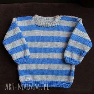 "Sweterek ""pasiaczek"" gaga art sweterek, rękodzieło, włóczka"