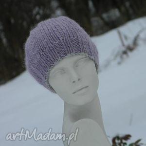 100 weŁna cudny kolor - lamówka, czapka, wool, ciepła, zima, melanż
