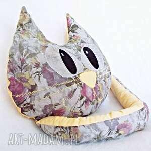 poduszka kot w kwiaty, poduszka, kot, dekoracyjna, prezent dom
