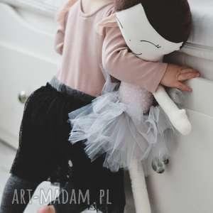 handmade lalki lalka ręcznie robiona melania xl (szare dodatki)
