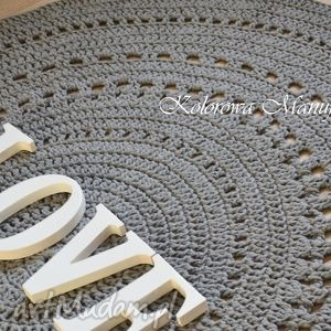 dywan ażur grey 160 - dywan, chodnik, szary, salon, bawełniany