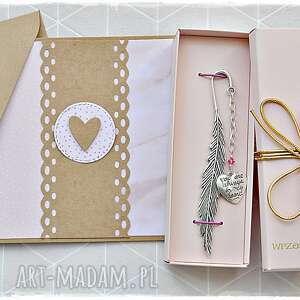 handmade zakładki prezent pełen miłości - zestaw zakładka
