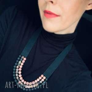 oryginalny prezent, bead story naszyjnik maria, korale, rodonit, agat, biżuteria