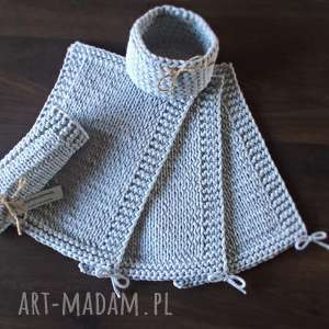 Komplet eleganckich podkładek ze sznurka bawełnianego, podkładki, szary
