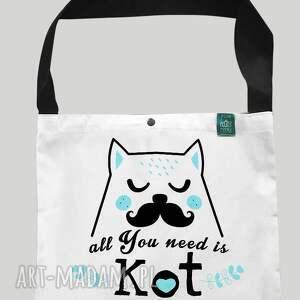 na zakupy torba worek all you need is kot ii, kot, zakupy, eko, torba, bawełniana