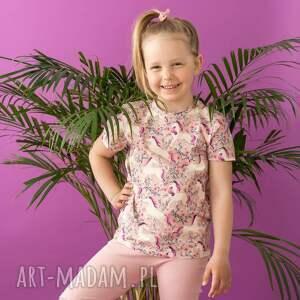 mamaiti koszulka t-shirt jednorożce w kwiatach, dla dziecka, t shirt