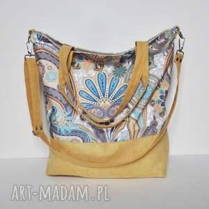 torba hobo xxl - print, arabeska, worek, torebka na ramię