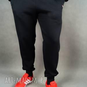 ręczne wykonanie sportowe joggery dresowe czarne/męskie lilyo