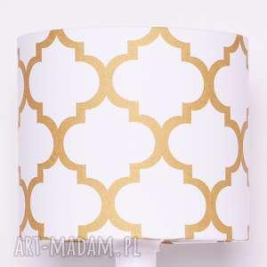 abażur fresh gold 25x25x22cm, abażur, złoty koniczyna, marokański, złota