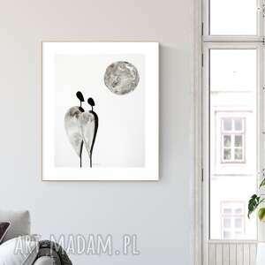 grafika 40x50 cm wykonana ręcznie, abstrakcja, obraz do salonu