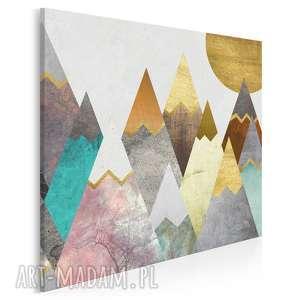 obraz na płótnie - góry pastele w kwadracie 80x80 cm 64402, góry