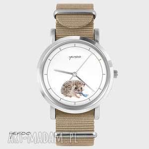 Prezent Zegarek, bransoletka - Jeżyk beżowy, nato, zegarek, bransoletka, jeż
