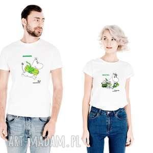 zestaw licencjonowanych koszulek dla par muminek z imienieniem jej-on migotka
