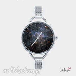 zegarek z grafiką mystic mountain, bransoletka, gwiazdy, kosmos, wszechświat