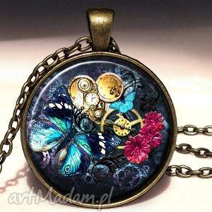 egginegg steampunk owy kolaż - medalion z łańcuszkiem, prezent