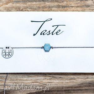 WHW Taste Blue Hex On Dark Grey String, sznurkowa, sznureczkowa, delikatna