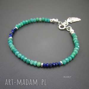 delikatna z amazonitem i lapis lazuli, lapis, amazonit bransoletki
