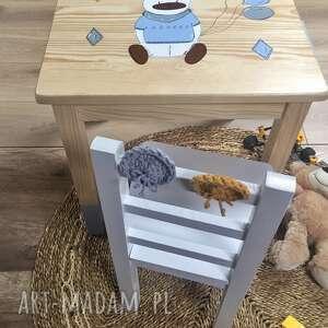 Krzesełko i stolik dla dzieci pokoik dziecka wnetrze z gustem