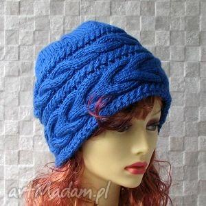 czapki czapka wykonana ręcznie, czapka, zima, kobieta, oversized, fashion, warkocze