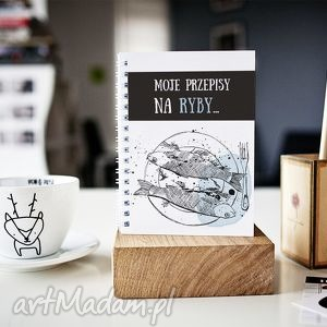 notesy moje przepisy na ryby, przepiśnik, a5, notes, ryby, przepisy, kuchnia