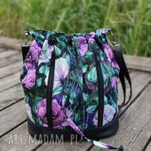 worek sakiewka - piwonie lilac, piwonie, peonie, kwiaty, prezent, sack, święta