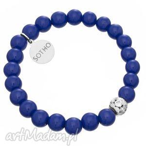 sotho dziecięca kobaltowa bransoletka lapis lazuli kryształy