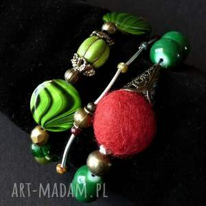 komplet modnych bransoletek boho, prezent 3w1 handmade, bohemian