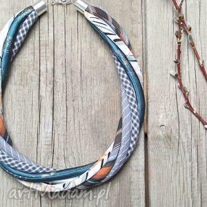 hand-made naszyjniki modny naszyjnik z kolorowych tkanin - lato