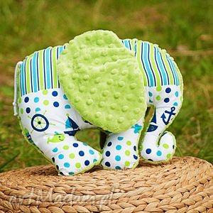 słonik przytulanka-statki zieleń - słoń