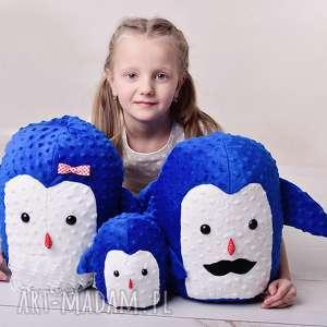 przytulanka dziecięca pingwin tata - pingwin-poduszka, pingwin-hand-made