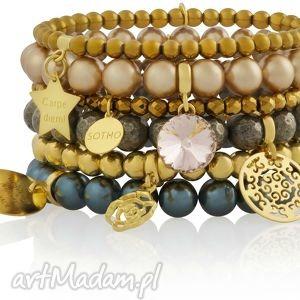 sotho zestaw modowych bransoletek earthly treasures perły, swarovski