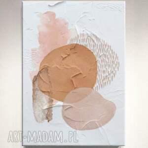 delightful-stains - wielkoformatowy obraz na płótnie abstrakcyjny art, kremowy