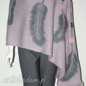 handmade szaliki szal z frędzlami dream catcher