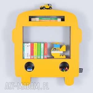 Półka na książki zabawki BUS ecoono | żółty, półka, chłopiec, dziewczynka, organizer