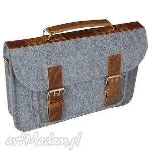 torba filcowa na laptopa, torba, torebka, laptop, skóra, filc, personalizacja