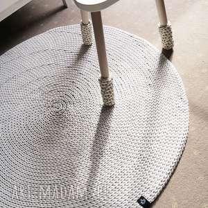Okrągły dywan z bawełnianego sznurka 180 cm, rękodzieło, bawełniany, okrągły