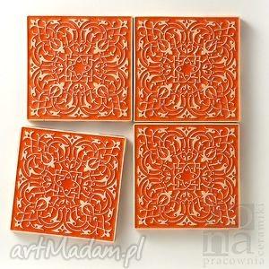 ręczne wykonanie ceramika kafle largo pomarańczowe