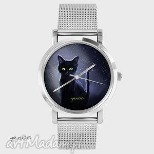 pomysł na świąteczne prezenty Zegarek, bransoletka - Czarny kot, zegarek, kot