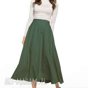 spódnice spódnica maxi z tkaniny zamkiem krytym, t332, khaki, spódnica