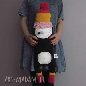 zabawki krecik archie - na zamówienie, polar, krecik, czapka, pompon, bawełna